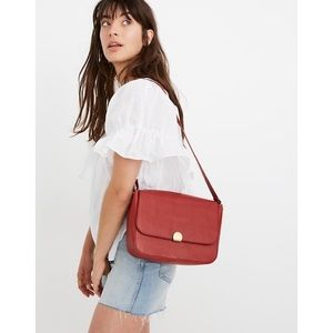 Madewell Abroad Shoulder Bag in Red